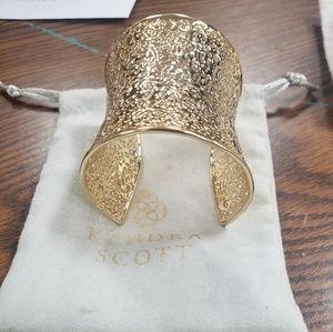 Kendra Scott gold cuff bracelet
